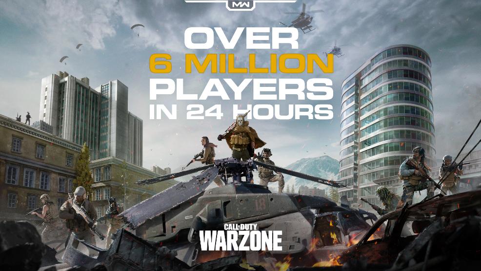 لعبة call of duty warzone للايفون 6