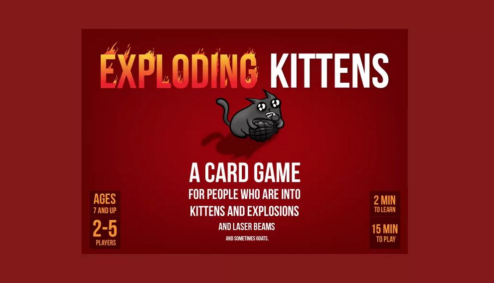 لعبة exploding kittens للأيفون